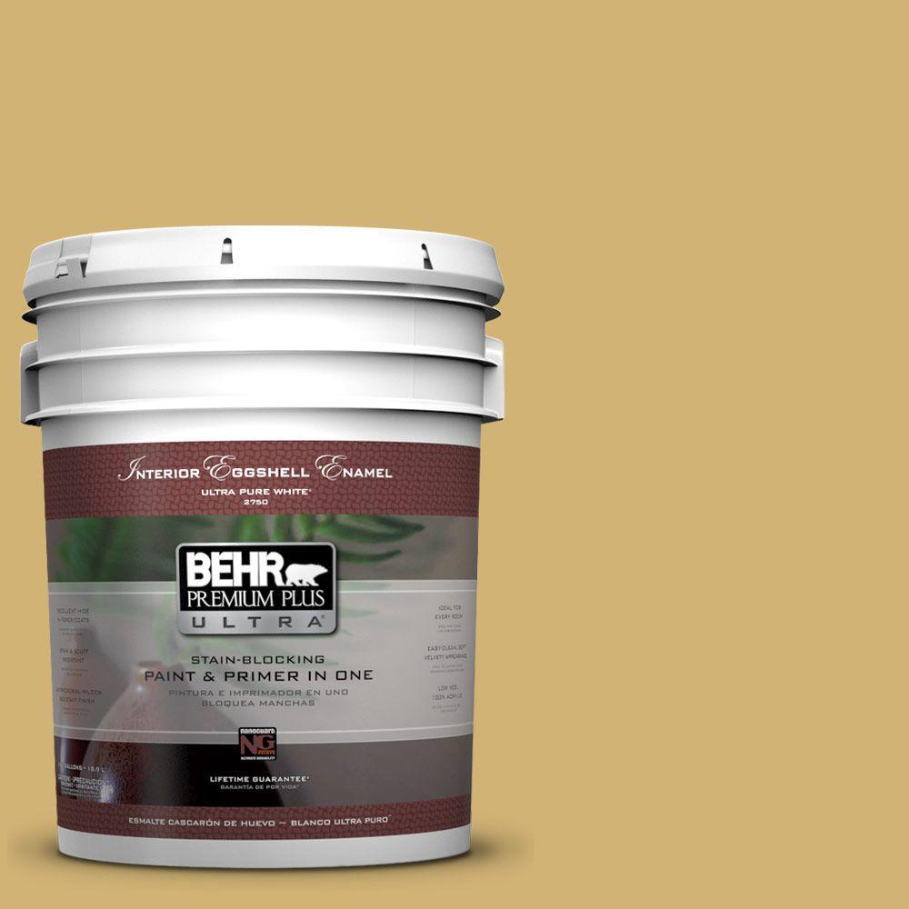 BEHR Premium Plus Ultra 5-gal. #M320-5 Dried Chamomile Eggshell Enamel Interior Paint