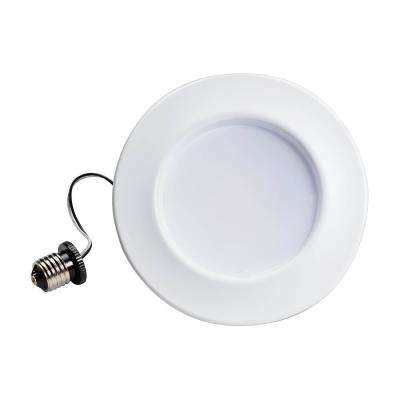 65W Equivalent Soft White 5 in./6 in. Recessed Dimmable Integrated LED Retrofit Trim with Warm Glow (2-Pack)
