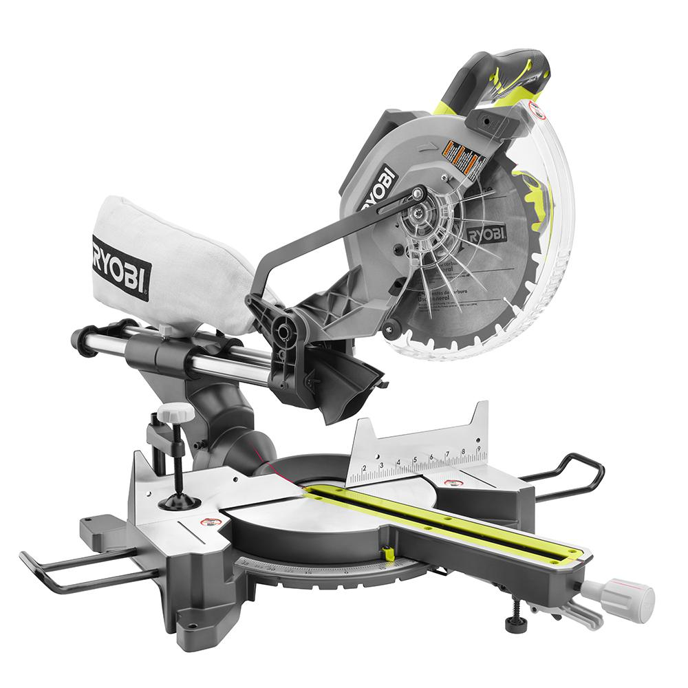 Ryobi 15-Amp 10 in. Sliding Miter Saw with Laser