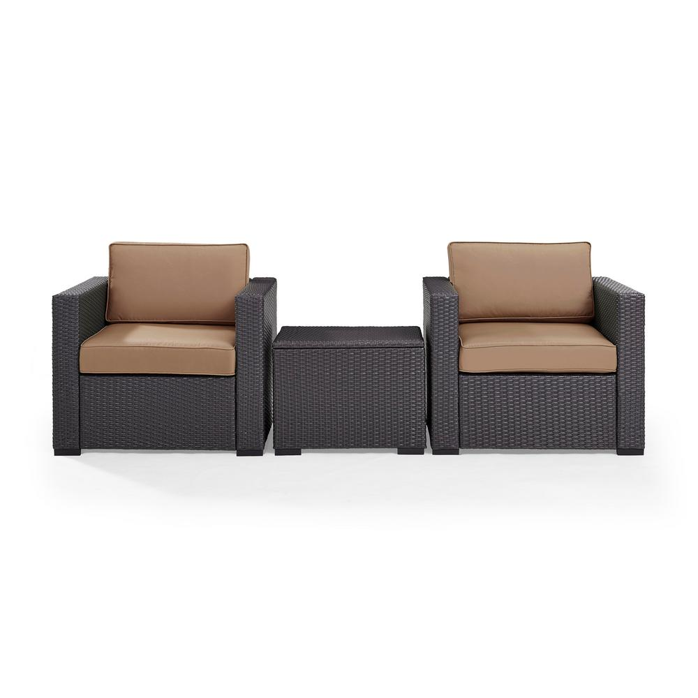 Enjoyable Biscayne 3 Piece Wicker Patio Outdoor Seating Set With Mocha Cushions Andrewgaddart Wooden Chair Designs For Living Room Andrewgaddartcom