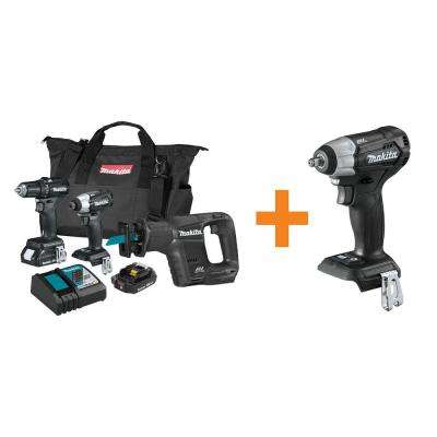 18-Volt LXT Sub-Compact Brushless 3-Piece Combo Kit with Bonus 18-Volt LXT Brushless 3/8 in. Square Drive Impact Wrench