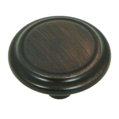 Sidney 1-1/4 in. Oil Rubbed Bronze Circular Cabinet Knob (10-Pack)
