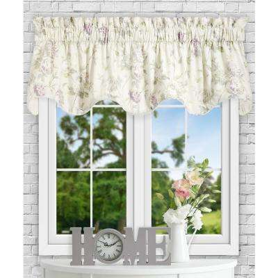 Abigail 17 in L Polyester/Cotton Lined Scallop Valance in Lilac