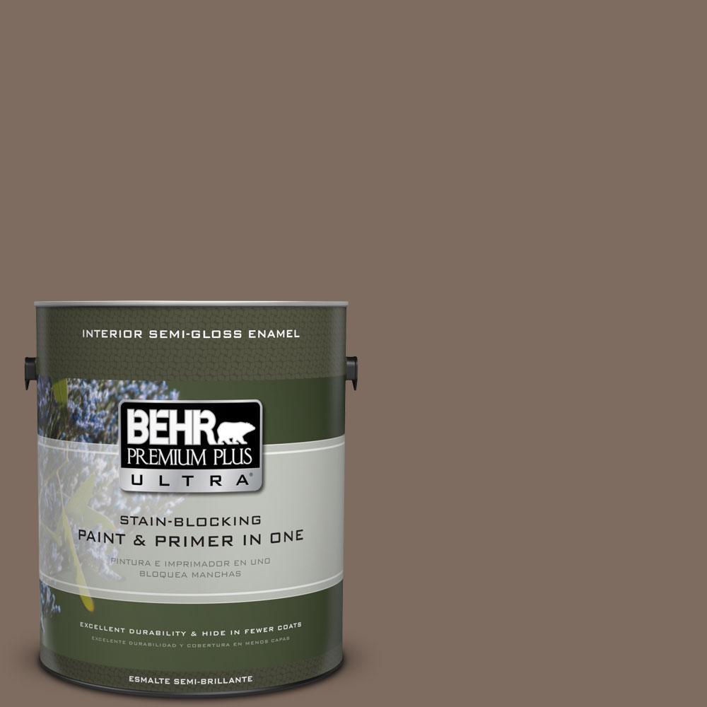 BEHR Premium Plus Ultra 1-gal. #PPU5-3 Antique Earth Semi...