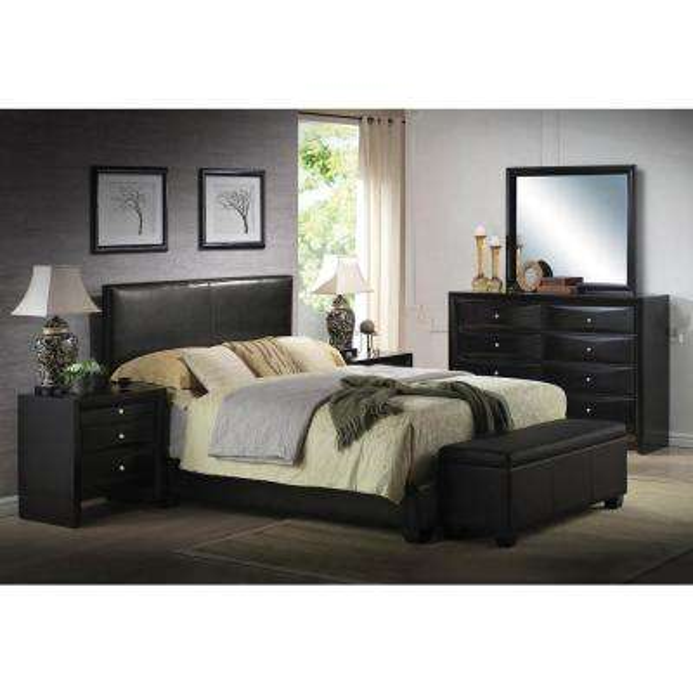 Ireland Black Eastern King Upholstered Bed