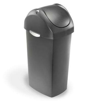 60-Liter Grey Plastic Swing Top Trash Can