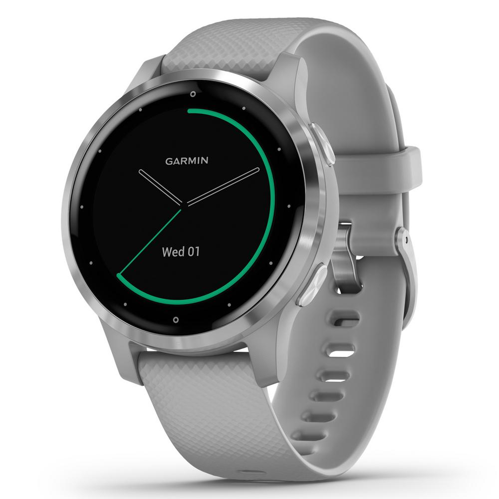 Garmin vivoactive 4S GPS Smart Watch in Silver Stainless Steel Bezel with Powder Gray Case and Silicone Band was $349.99 now $269.99 (23.0% off)