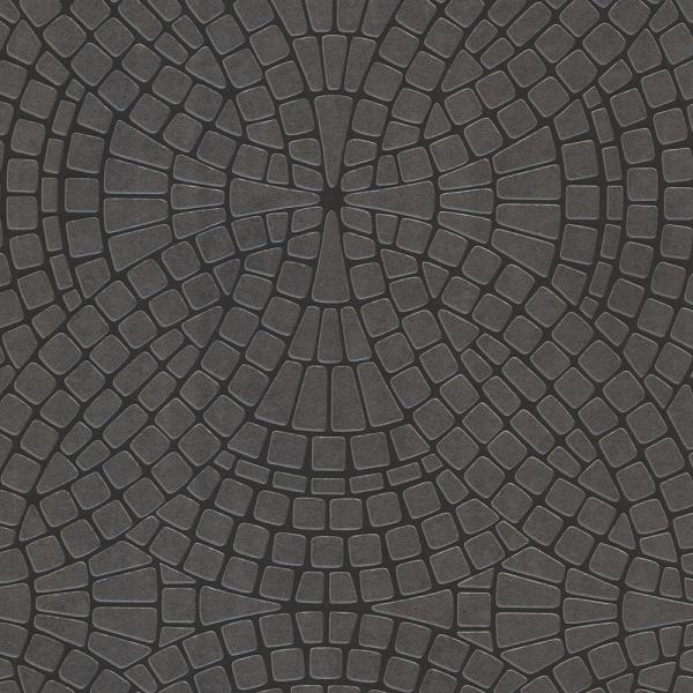 Brewster 8 in. x 10 in. Hanley Black Mosiac Tile Wallpaper