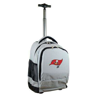 NFL Tampa Bay Buccaneers 19 in. Gray Wheeled Premium Backpack