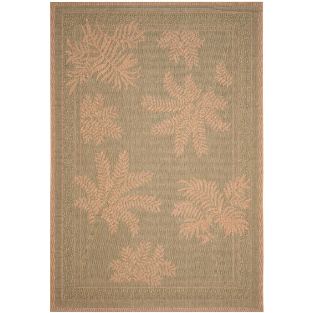 Safavieh Courtyard Green Natural 6 ft 7 in x 9 ft 6 in