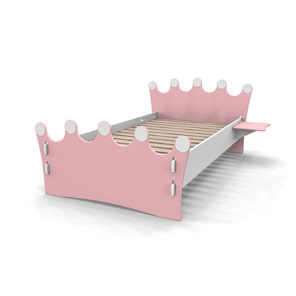 Legare Kid\'s Twin Bed with Princess Crown Design Headboard and Foot ...