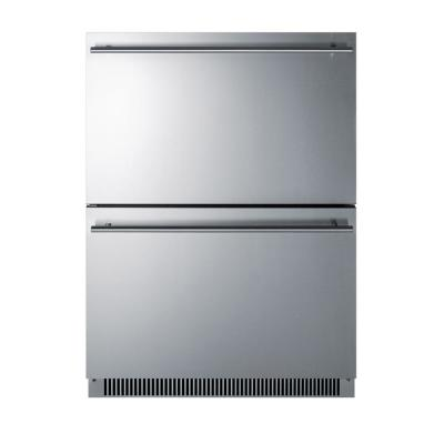 4.8 cu. ft. Under Counter Double Drawer Refrigerator in Stainless Steel, ADA Compliant