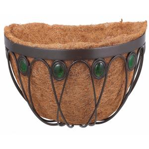 Arcadia Garden Products Emerald 16 inch Black Metal Coconut Wall Planter by Arcadia Garden Products