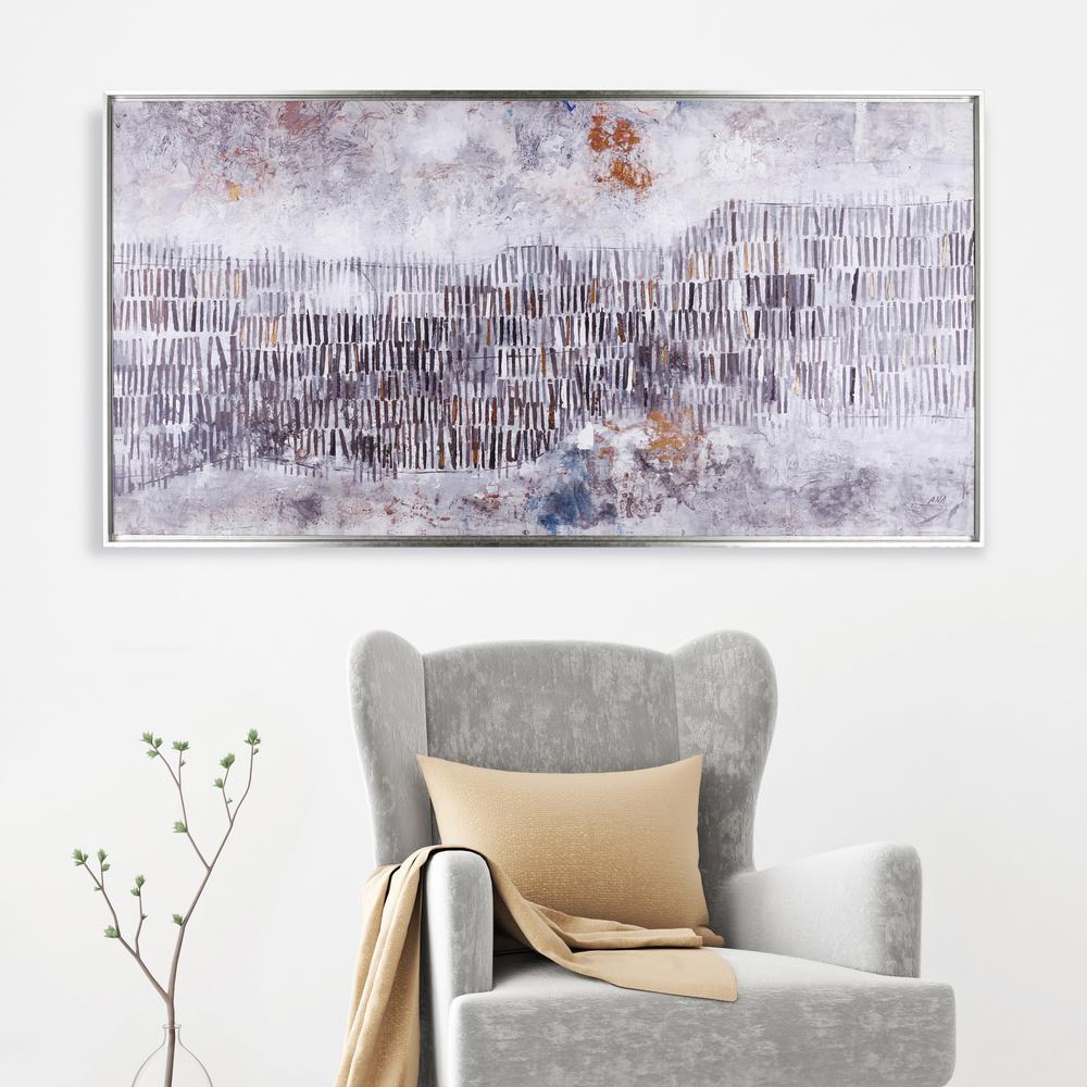 31.5 in. x 61.5 in. Hillside Framed Printed Canvas Acrylic Wall