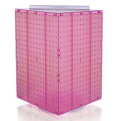 20 in. H x 14 in. W Interlock Pegboard Tower on a Revolving Base in Pink