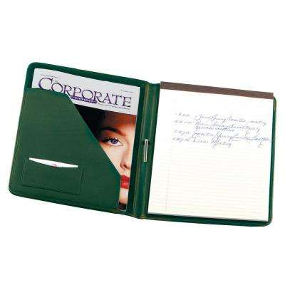 Genuine Leather Executive Writing Portfolio Organizer, Green