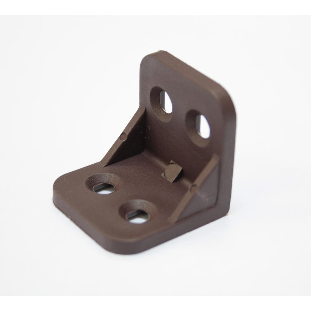 1-1/4 in. x 1-1/4 in. x 1-1/4 in. Brown Plastic Angle