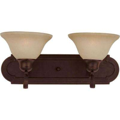 Essentials 2-Light Oil-Rubbed Bronze Bath Vanity Light