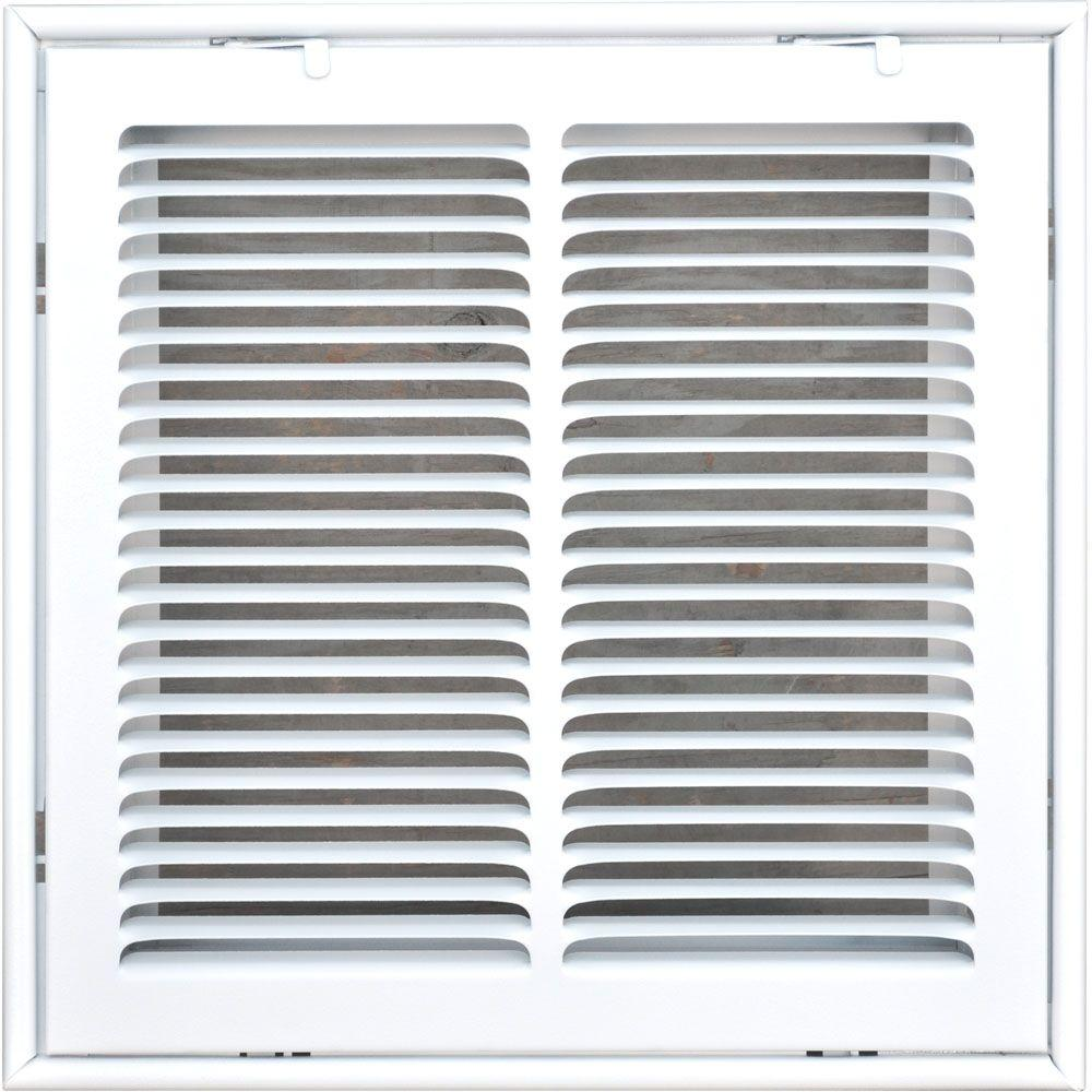 14 in. x 14 in. Return Air Vent Filter Grille, White