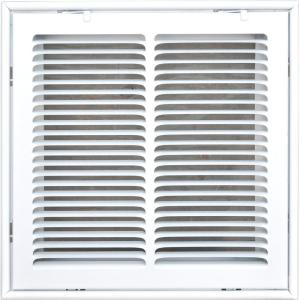 Speedi-Grille SG-1616 FG 16-Inch by 16-Inch White Return Air Vent Filter Grille with Fixed Blades