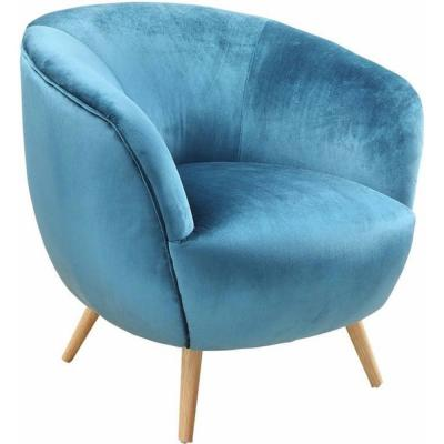Amelia Teal Velvet Accent Chair