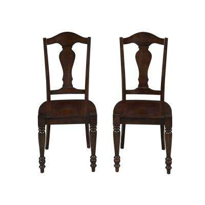 Country Comfort Aged Bourbon Dining Chair (Set of 2)