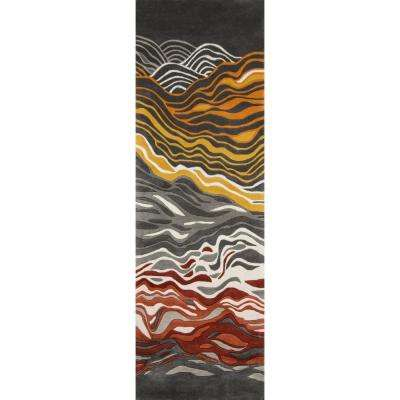 Contempo Grey 3 ft. x 12 ft. Indoor Runner Rug