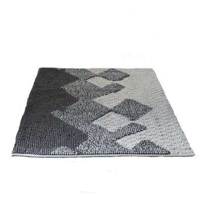 Grey 4 ft. x 6 ft. Abstract Area Rug