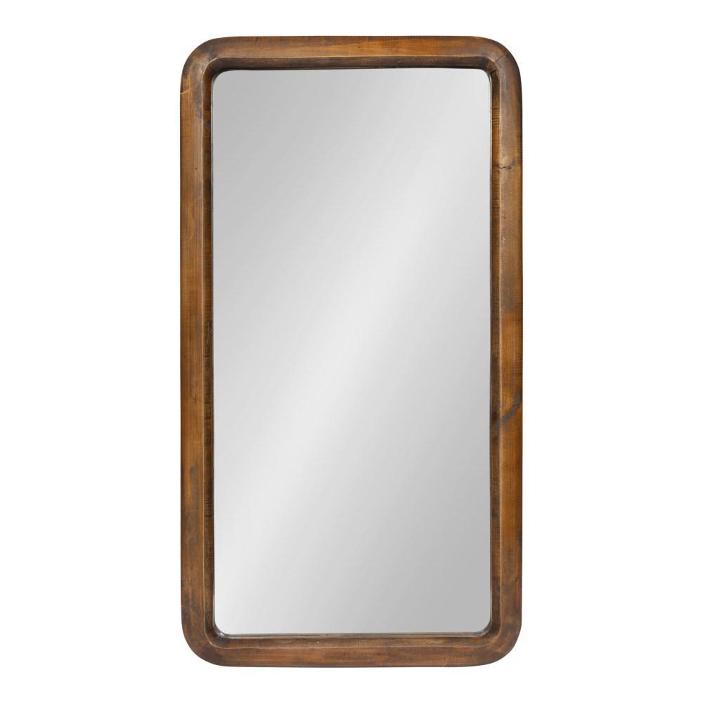 Pao Rectangle Walnut Brown Wall Mirror