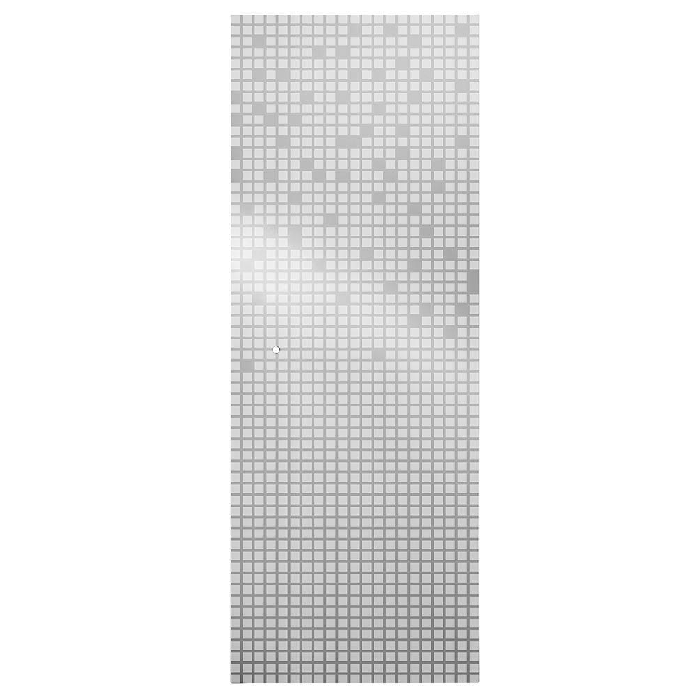 Delta 31 in. Semi-Frameless Pivot Shower Door Glass Panel in Mozaic