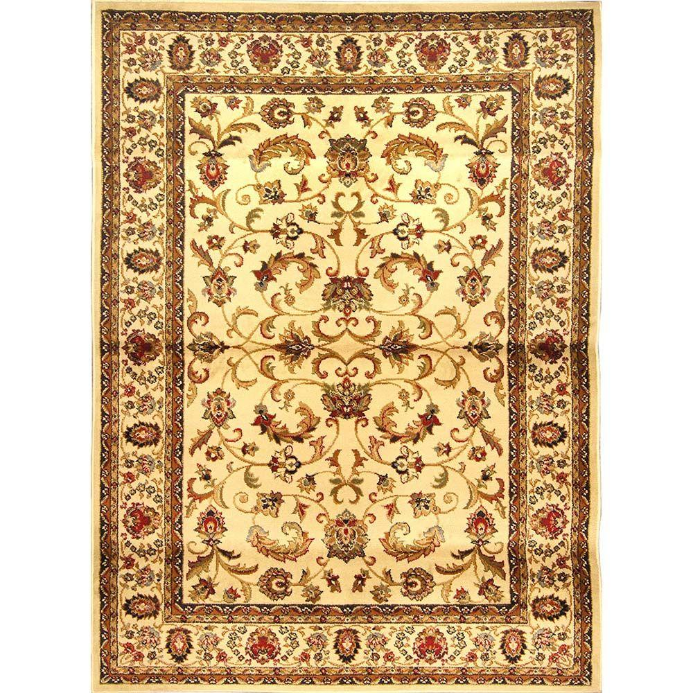 Home Dynamix Royalty Ivory 5 ft. 2 in. x 7 ft. 2 in. Indoor Area Rug