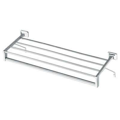 24 in. Hotel Shelf with Towel Bar and Support Brackets in Chrome