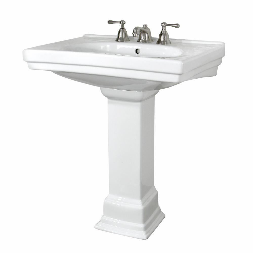 Foremost Structure Lavatory and Pedestal Combo in White