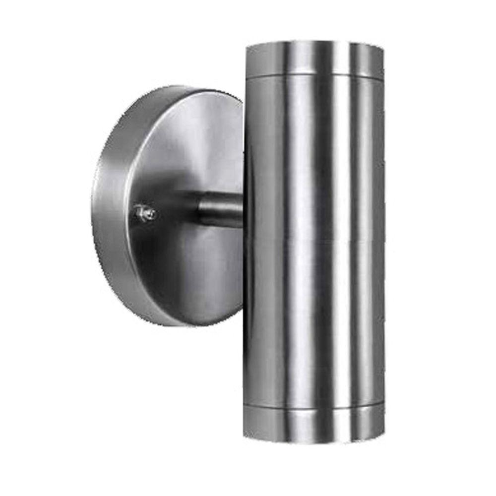 2 Light Stainless Steel Integrated Led Wall Sconce