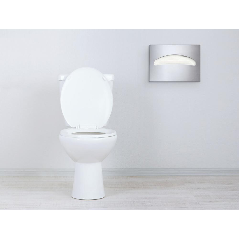 Super Alpine Industries Stainless Steel Brushed Half Fold Toilet Seat Cover Dispenser Ibusinesslaw Wood Chair Design Ideas Ibusinesslaworg