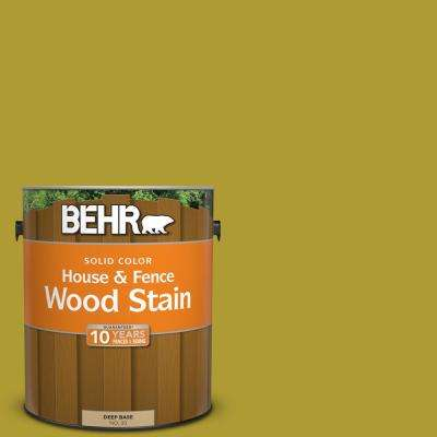 1 gal. #P330-7 Luscious Lime Solid Color House and Fence Exterior Wood Stain