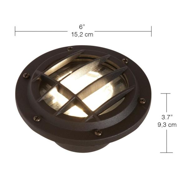 Hampton Bay Low-Voltage Black Outdoor Integrated LED Submersible Pond Light  NEW