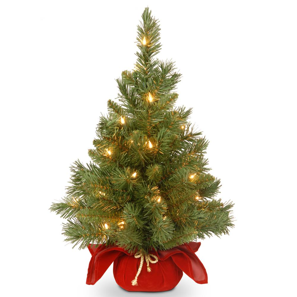 24 in. Majestic Fir Tree with Battery Operated Warm White LED