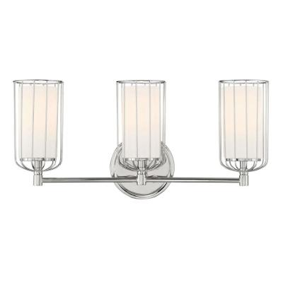 Avery 3-Light Polished Nickel Bath Bar Vanity Light