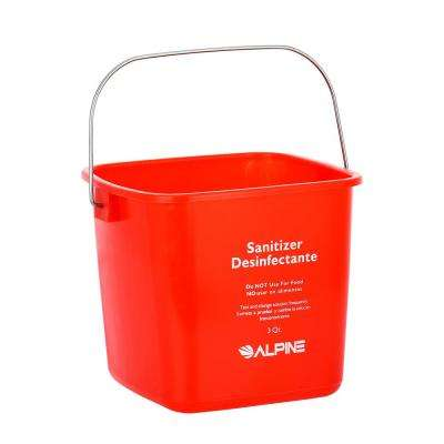 3 Qt. Red Plastic Cleaning Bucket Pail