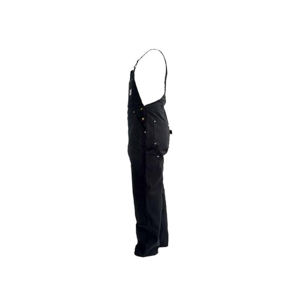convenience goods superior quality super cute Carhartt Men'S 28 in x 34 in. Black Cotton Duck Bib Overalls Unlined