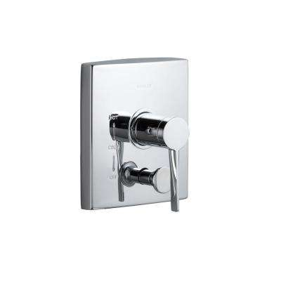 Stance 1-Handle Valve Trim Kit with Push-Button Diverter in Polished Chrome (Valve Not Included)