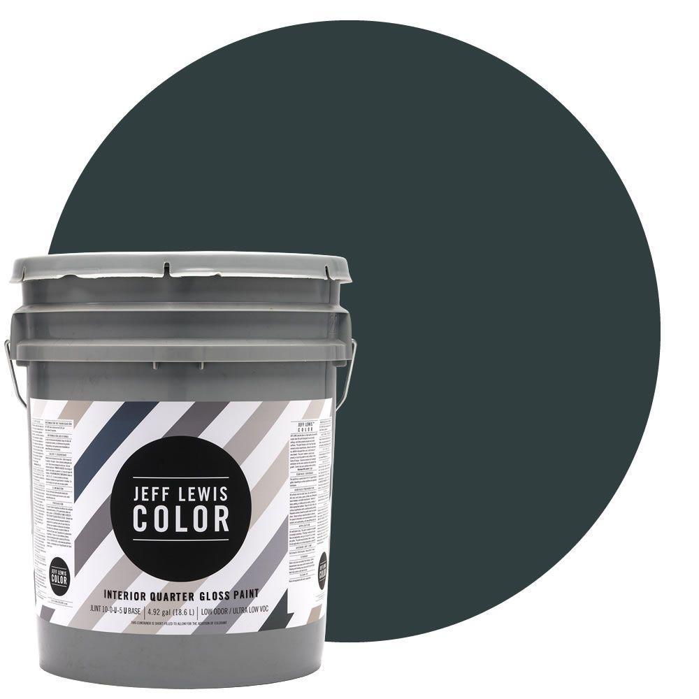 Jeff Lewis Color 5-gal. #JLC314 Atlantic Quarter-Gloss Ultra-Low VOC Interior Paint