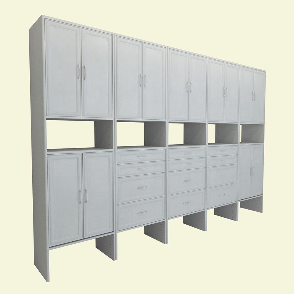 ClosetMaid Impressions 287 In X 411 Chocolate Wood Corner Unit 30811