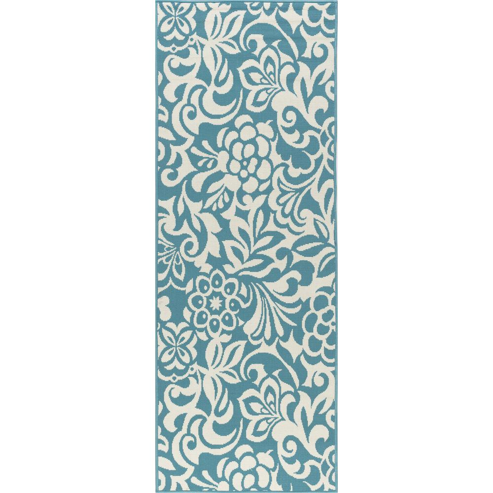 Tahari Aqua 3 ft. x 7 ft. Indoor/Outdoor Runner Rug