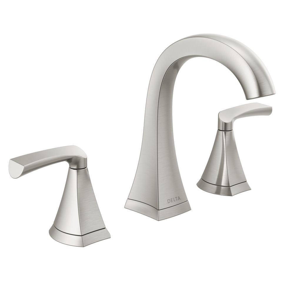 Pierce 8 in. Widespread 2-Handle Bathroom Faucet in SpotShield Brushed Nickel