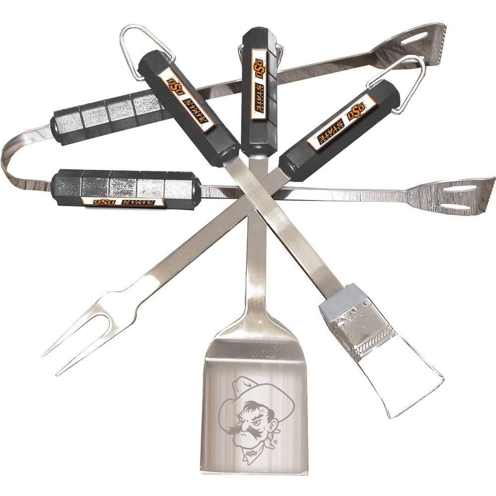 NCAA Oklahoma State Cowboys 4-Piece Grill Tool Set