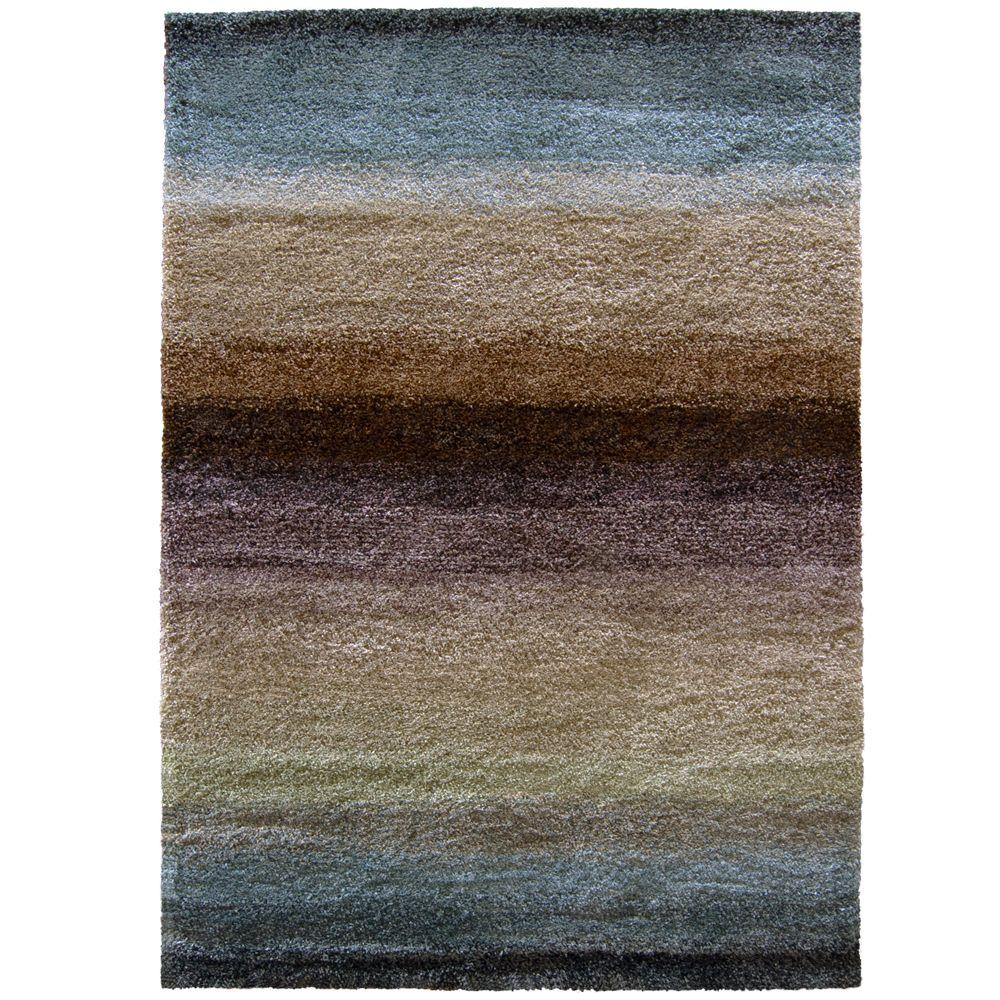 Orian Rugs Layers Lava 6 Ft 7 In X 9 8 Area Rug 238389 The Home Depot