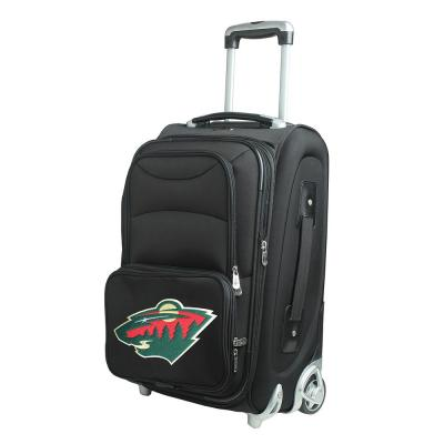 Denco NHL Minnesota Wild 21 in. Black Carry-On Rolling Softside Suitcase