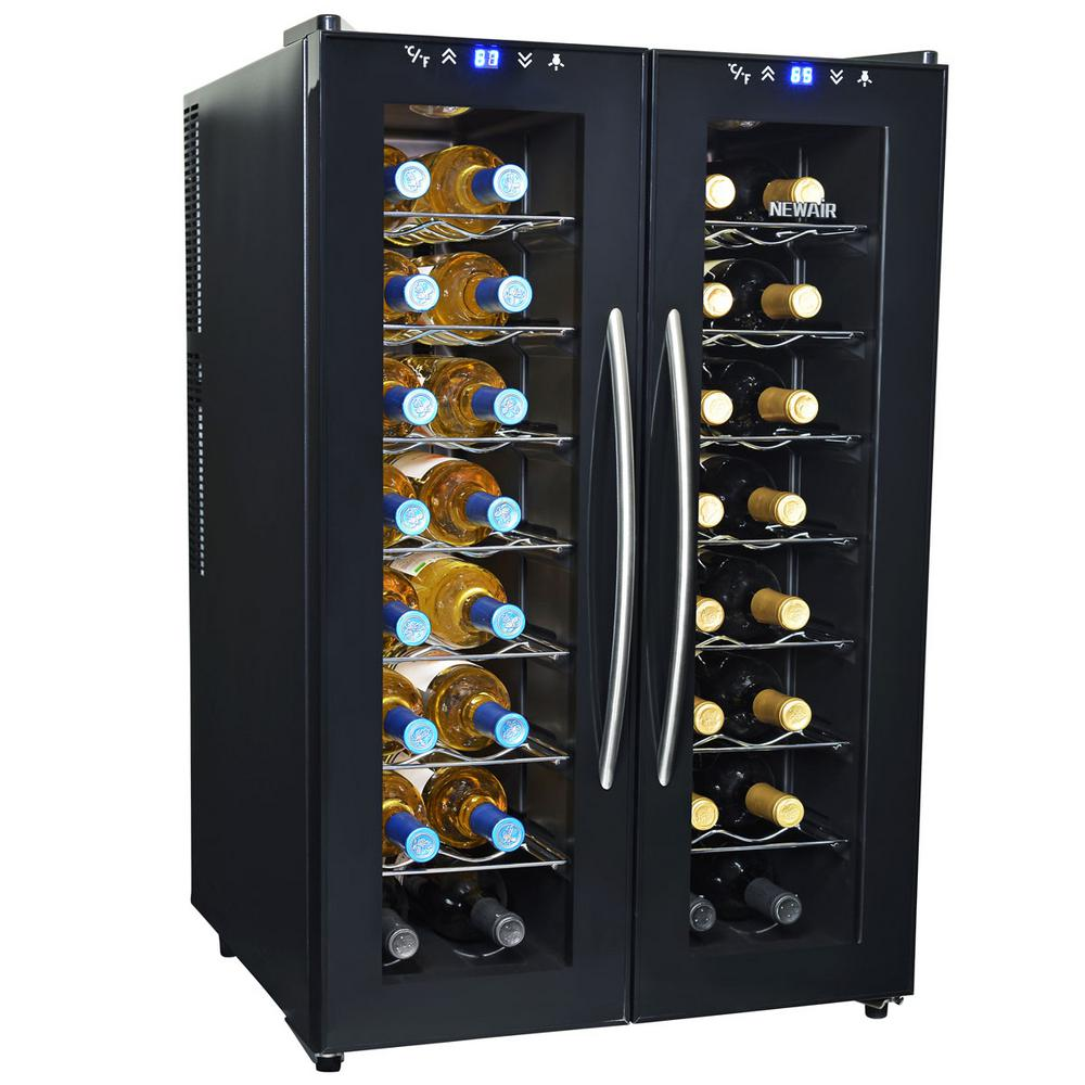 Newair 32 Bottle Dual Zone Thermoelectric Wine Cooler Aw